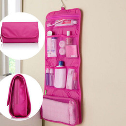 $enCountryForm.capitalKeyWord Canada - Wholesale- Foldable Travel Toiletry Pouch Wall Hanging Makeup Storage Case Bags Organizer