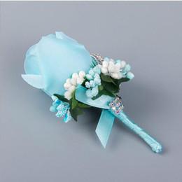 Flowers men wear weddings online shopping - Lovely White Rose Flowers Wedding Groomsman Brooch For Men Wedding Party Wear Decoration Bridegroom Corsage Accessories Wedding Supplier