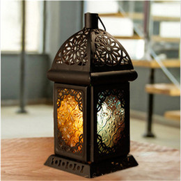 $enCountryForm.capitalKeyWord NZ - 2017 Classic Moroccan Decor Candle Holders Votive Iron Glass Hanging Candlestick Candle Lantern Party Home Wedding Decoration