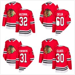 7b3f188da Jeff Glass 2018 New Mens Chicago Blackhawks Michal Rozsival 60 Collin Delia  31 Anton Forsberg Hockey Jersey Red Home All Stitched A C