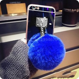 $enCountryForm.capitalKeyWord UK - Silver Metal Rope Mirror Tassel case phone fake fur ball For Galaxy J710 2016 Galaxy J510 2016 Back Cover Case