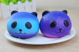 Cute Pig Pendant Canada - Starry sky universe Pig head PU Pander Squishy Slow Rising Pendant Phone Straps Charms Queeze Kid Toys Cute squishy Bread