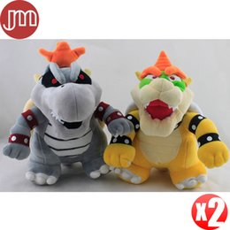 koopa troopa toys Australia - New 2PCS Super Mario Koopa Dry Bowser Bones Plush Doll Koopalings Troopa 23-25cm Anime Toys Brinquedos Baby Dolls Kids Gift