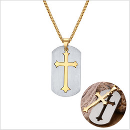 """$enCountryForm.capitalKeyWord NZ - Punk Removable Cross Necklace Free 24"""" Chain Surgical Steel Cross Pendant Necklace for Christian Jesus Lord Prayer Jewelry PN-624"""