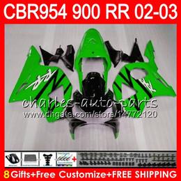 $enCountryForm.capitalKeyWord Australia - Body For HONDA CBR 954RR CBR900RR CBR954RR 2002 2003 66NO49 CBR Gloss green 900RR CBR954 RR CBR900 RR CBR 954 RR 02 03 Fairing kit 8Gifts