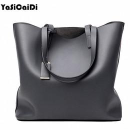 Wholesale Ladies Brand Handbags NZ - Wholesale- Famous Brand High PU Leather Women's Handbags Large Single Black Casual Shoulder Bags Fashion Ladies Shopping Bags sac a main