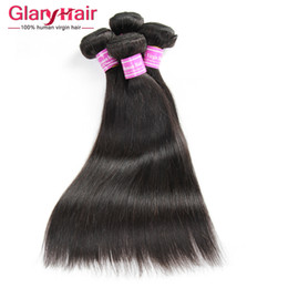 Virgin hair bundles fast shipping online shopping - Top Quality a Grade Brazilian Straight Human Hair Bundles Unprocessed Cheap Remy Human Hair Extensions Double Weft Fast