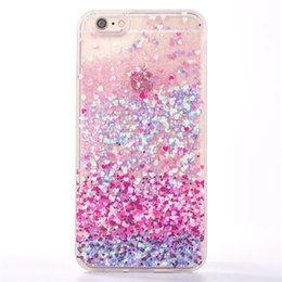 Chinese  New Design 3D Bling Liquid Quicksand Case Cover for Apple iphone 6 6S 7 Plus with Glitter and Stars Moving Sand Protective Shell manufacturers