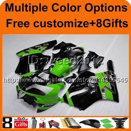 $enCountryForm.capitalKeyWord Canada - 8Gifts+Tank cover green black ABS cowling ZX12R 2002 2003 2004 bodywork motorcycle fairing for Kawasaki Ninja