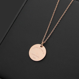 Round shape gold pendant chain online shopping round shape gold top quality round shaped rose gold color pendant necklace jewelry fashion stainless steel necklaces pendants mozeypictures Images