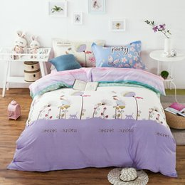Extra long shEEts online shopping - Fashion style pattern bedding sets Cotton linens Twin Single Double Queen Size duvet cover flat sheet pillowcases
