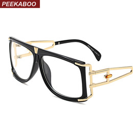 discount glasses frames for big eyes wholesale peekaboo 2017 big square glasses women optical frame - Discount Glasses Frames