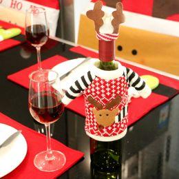 $enCountryForm.capitalKeyWord Canada - Wholesale- 2016 Christmas Reindeer Santa Claus Elf Red Wine Bottle Cover Nonwovens Navidad Decoracion Kerst Decoratie Xmas Wine Bottle Bag