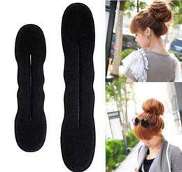 Foam bun accessory online shopping - 2017 Magic hair clip Sponge Foam Bun Clip Maker Former Foam Twist Hair styling accessory bun maker Twist Tool Hair Band