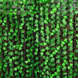 Artificial Plants For Green Walls NZ - 120M lot Novelty Home Decor Wall Hanging Plant Artificial Foliage Flower Climbing green Ivy vine For Bar Restaurant Garden Decoration