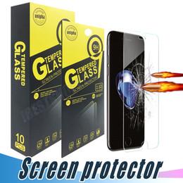 cd2e7e394d0 Para iPhone X Xr Xs Máx. 8 7 6S Más Protector de pantalla de cristal  templado 9H 2.5D Película anti-ruptura Para Samsung J3 J7 Prime 2017 2018  LG Stylo 4 3