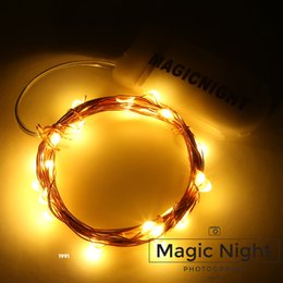 Ul Battery Canada - Magicnight 20 Warm White Color Micro LED String Lights on 7 Feet Extra Thin Copper Wire for DIY Wedding Centerpiece