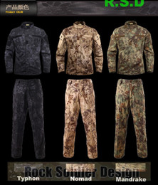 TacTical uniforms online shopping - Men Wear Kryptek Mandrake camouflage uniform SHIRT and PANTS tactical sets