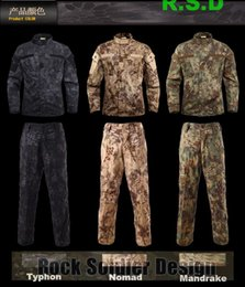 Men Wear Kryptek Mandrake uniforme de camuflagem SHIRT e PANTS conjuntos táticos
