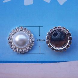 Flat Back Embellishments NZ - L0006-21mm,free shipping wholesale 10pcs lot,pearl bead rhinestone embellishment,flat back,ivory or pure white pearl