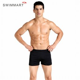 Sacs De Boxer Serrés Pas Cher-Vente en gros - SMIMMART Solid Summer Hommes Boxer Swim Trunk Rafting Sports aquatiques SPA Surfing Plongée Boat Tight High-elastic Shorts Beach Swimwe
