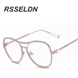 fa91dcca02 optical grade frames 2019 - Wholesale- RSSELDN Retro Glasses Frame Of  high-Grade Metal