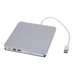 Freeshipping Taşınabilir USB3.0 Slim Harici CD / DVD-RW / CD-RW DVD Burner Yazar Mac PC Laptop için Sürücü indirimde