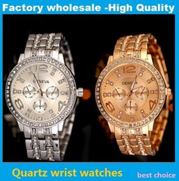 Stainless Steel Unisex Luxury Watches Canada - Luxury Brand Geneva Watches Fashion Men Women Unisex Diamond Bling Three Eyes Stainless Steel Band Quartz Watches Friend Gift Wristwatch