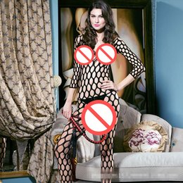 Jouet De Lingerie Pas Cher-Women's Sexy Lingerie Bodystocking Open Crotch Robe Underwear Stocking Fishnet Lingerie Sex Toys Sexe Produits Erotique