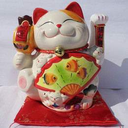 $enCountryForm.capitalKeyWord Canada - A large ceramic gift ornaments opening hand Lucky cat cat electric felicitous wish of making money
