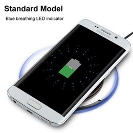 Wholesale Universal Qi Wireless Charger pad White Black Crystal Led light Wireless charger for samsung s3 s4 s6 s7 edge for iphone