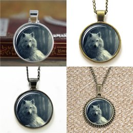 Bookmarks Pendant Australia - 10pcs Wolf in the forest Art Pendant glass Necklace keyring bookmark cufflink earring bracelet