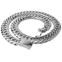 $enCountryForm.capitalKeyWord NZ - Hight quality Hip Hop Mens Steel Cuban Chain Necklace Silver Thick Stainless Steel Big Chunky Hippie Rock Men Dj Rapper ChainNecklaces