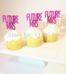 Engagement Party Cupcake Toppers Canada - Wholesale- Future Mrs Cupcake Toppers, Bachelorette Party, Bridal Shower Cupcake toppers, Wedding Cupcake toppers wedding Engagement