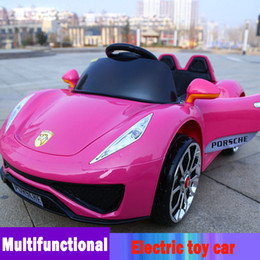 2017 christmas best selling four wheels sangle seat and 12v electric toy car for children electric kids cars strollers