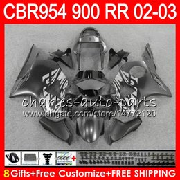 $enCountryForm.capitalKeyWord NZ - Body For HONDA CBR 954RR CBR900RR CBR954RR 2002 2003 66NO50 Silvery grey CBR 900RR CBR954 RR CBR900 RR CBR 954 RR 02 03 Fairing kit 8Gifts
