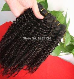 6a Kinky Curly Hair Weave NZ - 1pcs lot full head hair extensions human weave natural black,grade 6a+ unprocessed virgin brazilian kinky curly hair bundles
