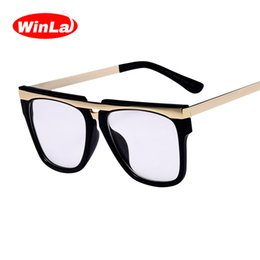 $enCountryForm.capitalKeyWord Canada - Wholesale- Winla 2017 New Arrival Square Glasses Frame Optical Points Classic Brand Designer Clear Lens Alloy Temple Glasses oculos W2497