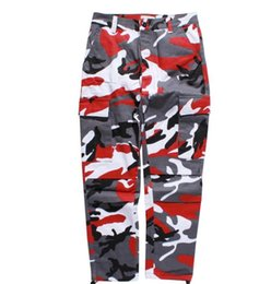 Symbol Of The Brand 2018 Summer Fashion Men Cargo Camouflage Shorts Camo Hip Hop Streetwear Pink Purple Yellow Orange Blue White Snow Men's Clothing