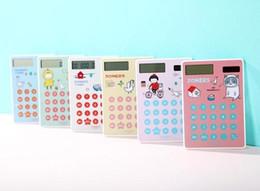 $enCountryForm.capitalKeyWord Canada - Original single cartoon portable mini portable slim student environmental solar touch screen calculator card