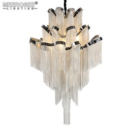 aluminum pendant light fixture 2019 - French Empire Chain Pendant Light Fixture Lustre Hanging Suspension Lamp luminaria Chain Project Lighting for Living roo