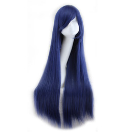 $enCountryForm.capitalKeyWord Canada - WoodFestival 80cm fiber wigs for women blonde black pink blue yellow navy long straight wig cosplay synthetic hair wigs