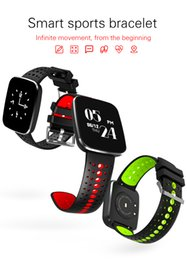 v6 boxes Canada - V6 Smart Watch Heart Rate Monitor Fitness Tracker Bracelet Blood Oxygen Pressure Monitor Sport Watch For IOS Android Smartphones With Box