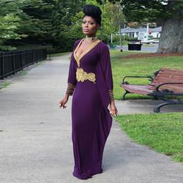 $enCountryForm.capitalKeyWord Canada - Arabic Modest Straight Purple Evening Dresses 2017 Long Sleeves Deep V Neck Prom Dress Gold Beading Waistline Women Formal Party Gowns