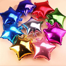 moon star party supplies NZ - 45CM Party Wedding Decoration Star Heart moon shape Foil Helium Balloons Birthday Wedding Anniversary Party Supplies Factory Wholesale
