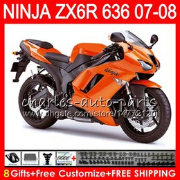 Kawasaki Zx6r Fairings Orange Australia