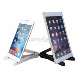 tablet stand mount UK - 2 Color Adjustable Tablet Stand Holder Portable Fold-UP Stand Mounts For 7-10 inch Tablet PC IPad Mini 2 3 4 for IPAD AIR