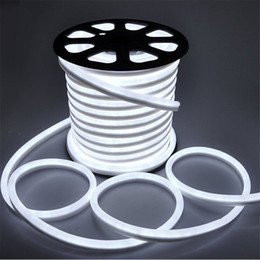 Wholesale Umlight1688 m led M LED Neon Flex Red color soft neon light220V V waterproof flexible led strip rope light