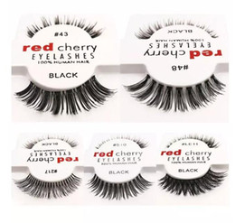 Mode Extensions De Cils Pas Cher-Nouvelle mode RED CHERRY Cils faux Coulis naturels Long Eye Lashes Extension Maquillage Professionnel Faux Eyelash Winged Fake Lashes Wispies