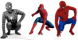 Costumes Sexy À Corps Entier Pas Cher-Lycra Zentai Full Body Spiderman Costume sexy Catsuit S-XXL